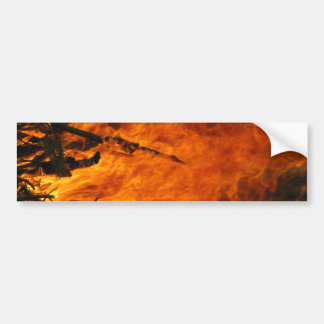 Raging Fire Bumper Sticker