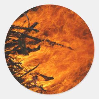 Raging Fire Classic Round Sticker