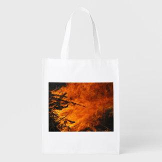 Raging Fire Grocery Bag