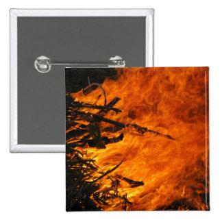 Raging Fire Pinback Button