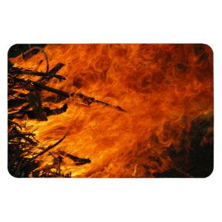 Raging Fire Rectangular Photo Magnet