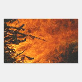 Raging Fire Rectangular Sticker
