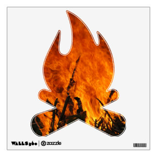 Raging Fire Wall Decal