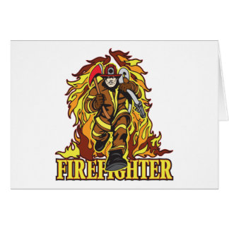 Raging Flames Firefighter Card