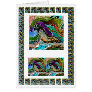 Raging Himalayan River Ganga   -  add text img Greeting Card