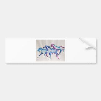 Raging Mustangs in Pastel Bumper Sticker