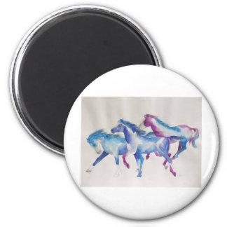 Raging Mustangs in Pastel Magnet