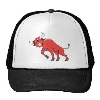 Raging Red Bull Trucker Hat