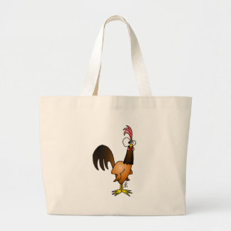 Raging rooster large tote bag