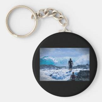 Raging Seas Basic Round Button Keychain
