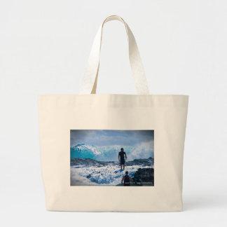 Raging Seas Jumbo Tote Bag
