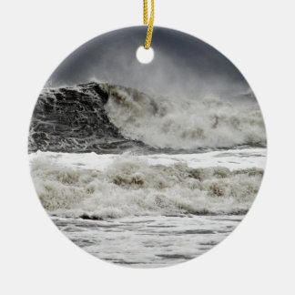 Raging Seas Of Hurricane Sandy Ceramic Ornament