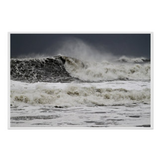 Raging Seas Of Hurricane Sandy Poster