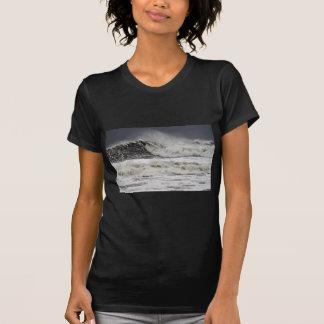 Raging Seas Of Hurricane Sandy T-Shirt