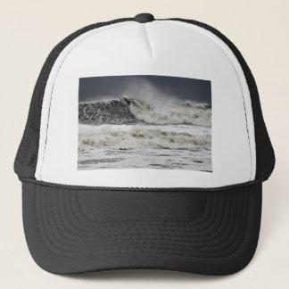 Raging Seas Of Hurricane Sandy Trucker Hat
