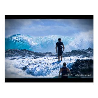 Raging Seas Postcard