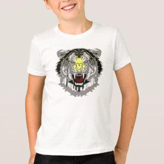 Raging Tiger Head, Metallic-look, Wild Animal T-Shirt