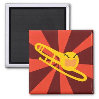 Raging Trombone 2 Inch Square Magnet