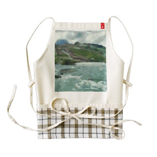 Raging water streams in the hills zazzle HEART apron