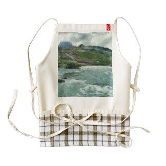 Raging water streams in the hills zazzle HEART apron