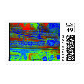 RAGING WATERS ABSTRACT STAMP