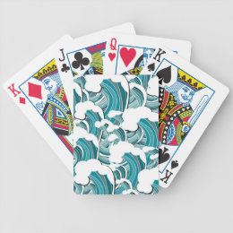Raging Waves Playing Cards