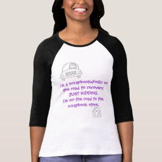 Raglan 3/4 length T-Shirt, Scrapbookaholic T-Shirt
