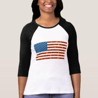 Raglán a mangas 3/4 mujer, Bandera los EE.UU Anara Poleras