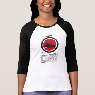 Raglán afortunado del polluelo t-shirt