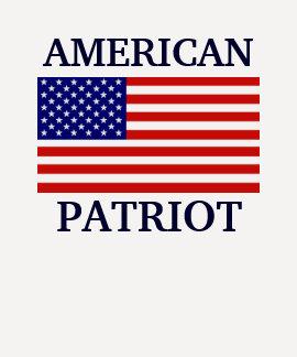 Raglán americano de las señoras de la bandera del  camiseta