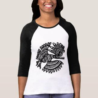 Raglán antiguo del adorno del pájaro camiseta