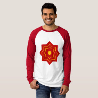 Raglan basic with long sleeves red and white T-Shirt