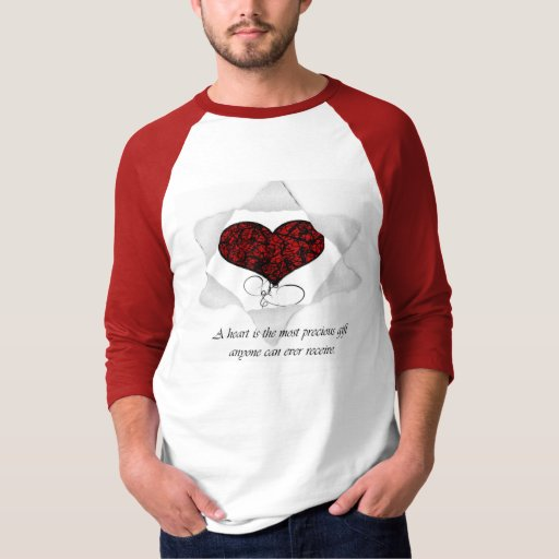 Raglán básico de la manga del regalo del corazón polera