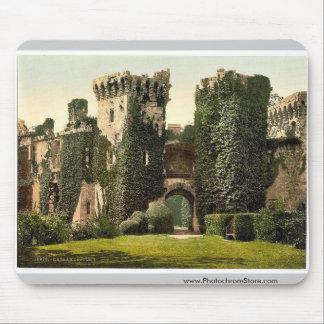 Raglan Castle, I., England rare Photochrom Mouse Pad