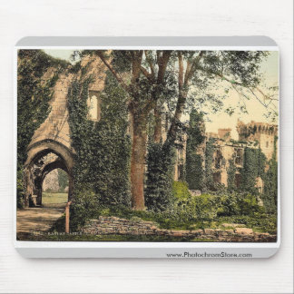Raglan Castle, II., England rare Photochrom Mouse Pad