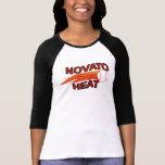 Raglán de las mujeres del calor de Novato el 3/4 c Camisetas