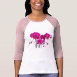 Raglán de las señoras del tema de las orquídeas camisetas