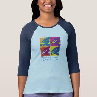 Raglán del arte pop de las mujeres camisetas