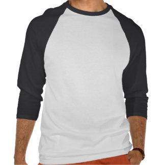 Raglán grande de la manga del negro 3/4 de los t shirts