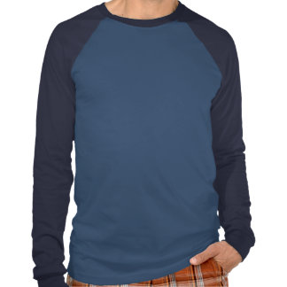 Raglán largo básico de la manga de Kline, azul cla Camisetas