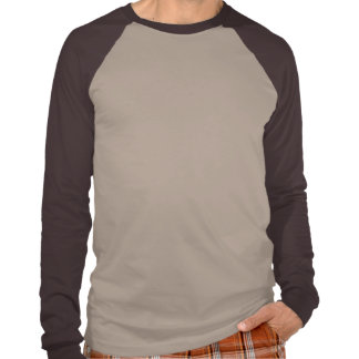 Raglán largo básico de la manga de la tierra negra camisetas