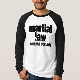 Raglán largo de la manga de la ley marcial playeras