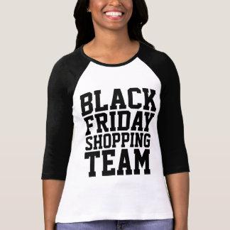 Raglán negro de la manga del equipo 3/4 de las com t-shirts