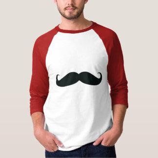 Raglán rojo de la manga del bigote de los hombres camisas