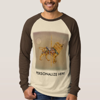 Raglan Sleeve Tees - Carousel Lion SQ