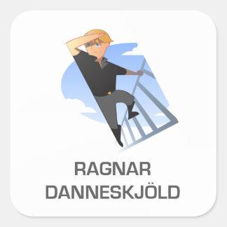Ragnar Danneskjold Cartoon Stickers Atlas Shrugged
