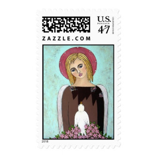 Rags to Riches Angel Postage Stamp