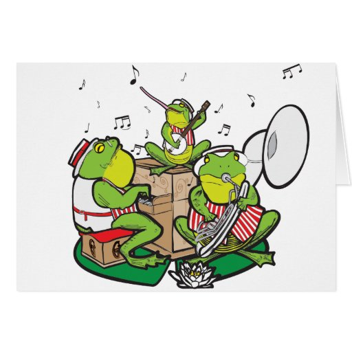 RAGTIME FROGS GREETING CARD
