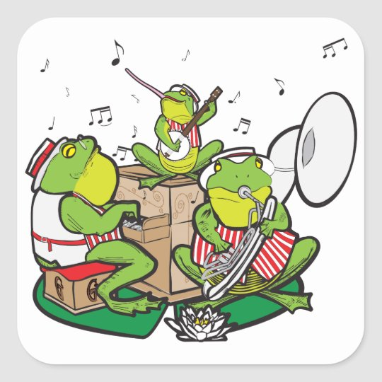RAGTIME FROGS SQUARE STICKER