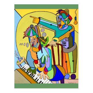 """Ragtime Scene"" by Ruchell Alexander Postcard"